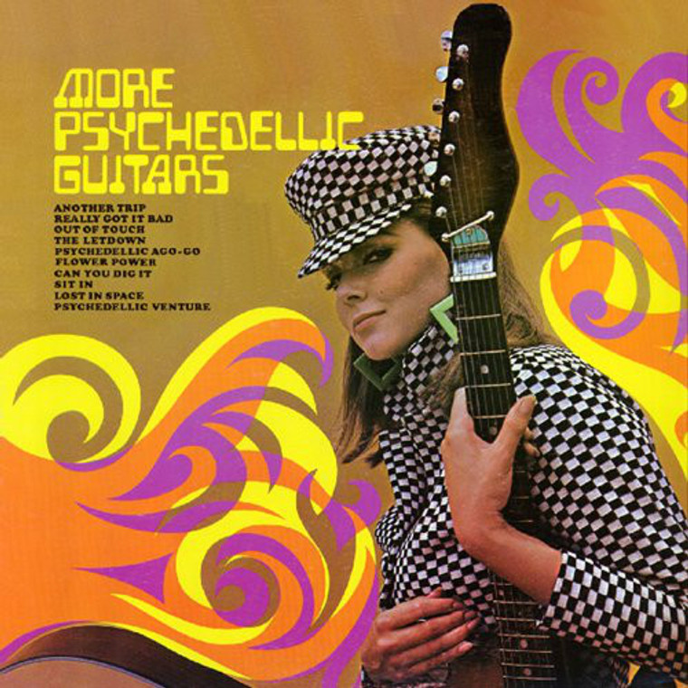 MORE PSYCHEDELIC GUITARS  & PSYCHEDELIC  VISIONS - 2 ON 1  CD (Extremely rare 1960s Exploito albums)COMP CD