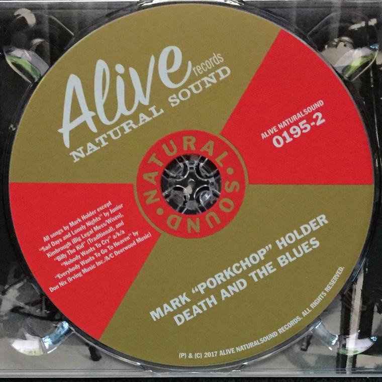 "MARK ""PORKCHOP"" HOLDER  -Death and the Blues  (Blistering slide guitar - ex Black Diamond Heavies )CD"