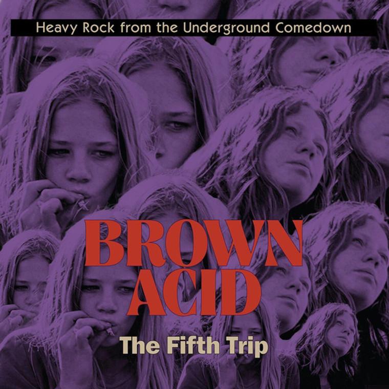 BROWN ACID  - THE FIFTH  TRIP (60S PSYCH RARITIES) GREEN  VINYL COMP LP