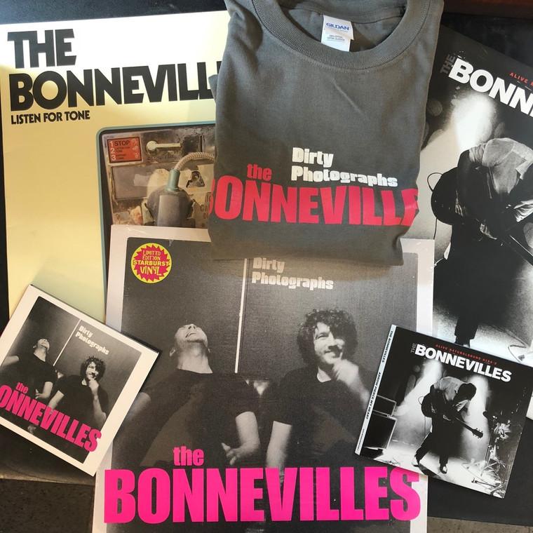 BONNEVILLES  -SUPERBUNDLE!  Get all 3  LP, BOTH CDS  plus a T SHIRT!