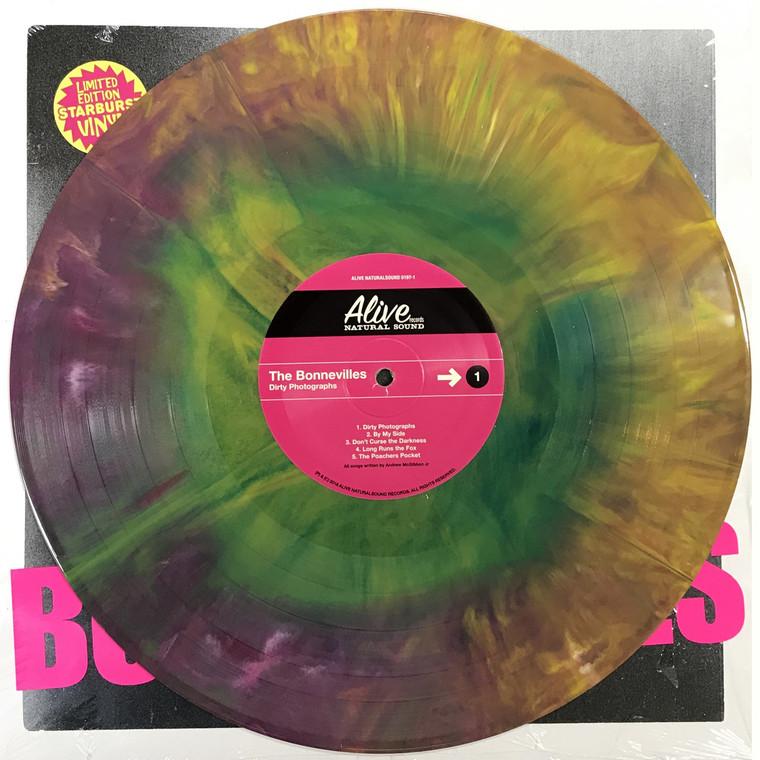 BONNEVILLES  -Dirty Photographs  STARBURST  (Left Lane Cruiser, Black Keys, James Leg style) LP