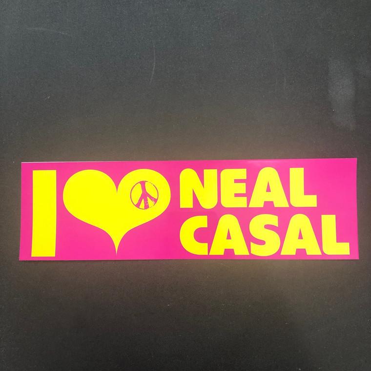 I LOVE NEAL CASAL (GOSPELBEACH)   BUMPER STICKER