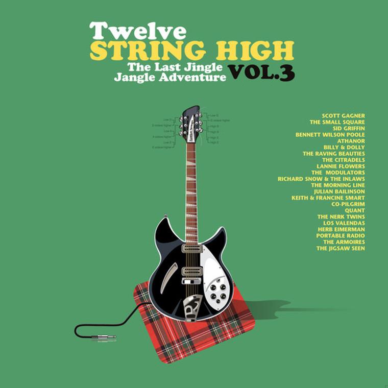 TWELVE STRING HIGH  # 3  -Mind expanding tunes!  with cd - DBL GATEFOLD COMP LP