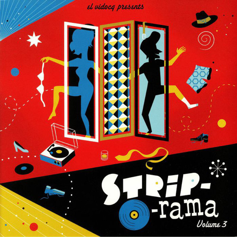 STRIP-O-RAMA  VOL 3 + CD (Scandalous 50s and 60s strip morsels!)COMP LP