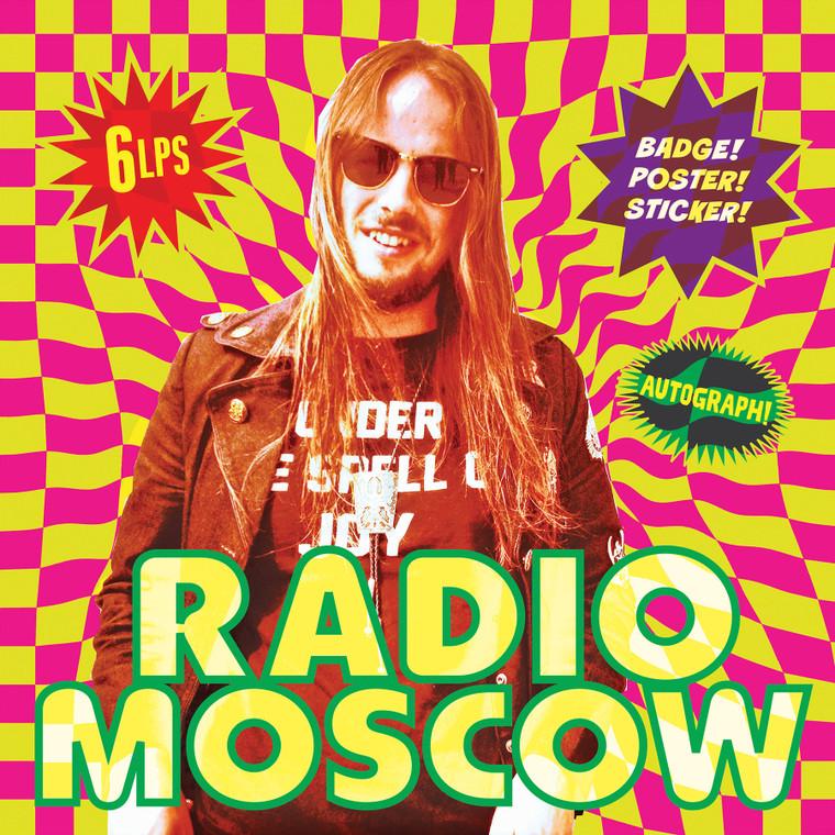 "RADIO MOSCOW-  6 LP  ""BOX "" SET!  COLOR VINYL & AUTOGRAPH, POSTER, STICKER & BADGE"