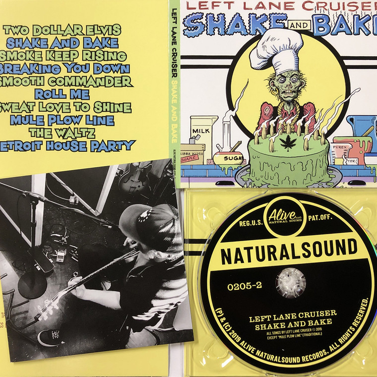 LEFT LANE CRUISER  - Shake and Bake with  6 page booklet- CD