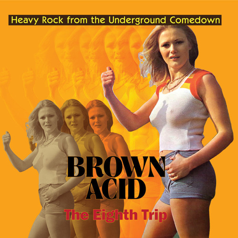 BROWN ACID  -THE  EIGHTH  TRIP (HEAVY ROCK FROM THE UNDERGROUND COMEDOWN)  BLUE VINYL COMP LP