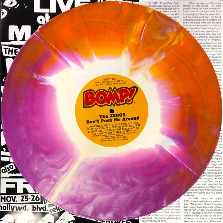 ZEROS   - Don't Push Me Around -1977 punk w original insert -NEW STARBURST PRESSING!