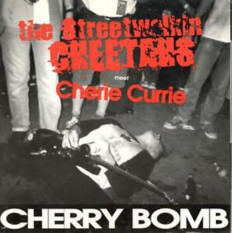 STREET WALKIN CHEETAHS with Cherie Currie   - Cherry BomB-heavy cardboard slv   45 RPM