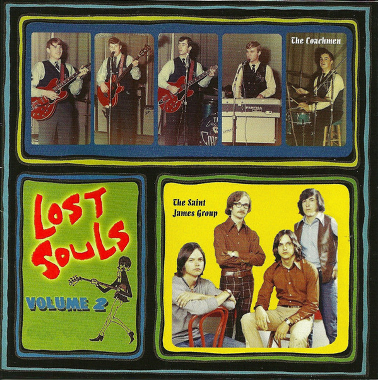LOST SOULS   Vol 2  -Garage Psych  from Arkansas and Beyond 1965-1971- VA ( 60s Garage/ Psych )   COMP CD