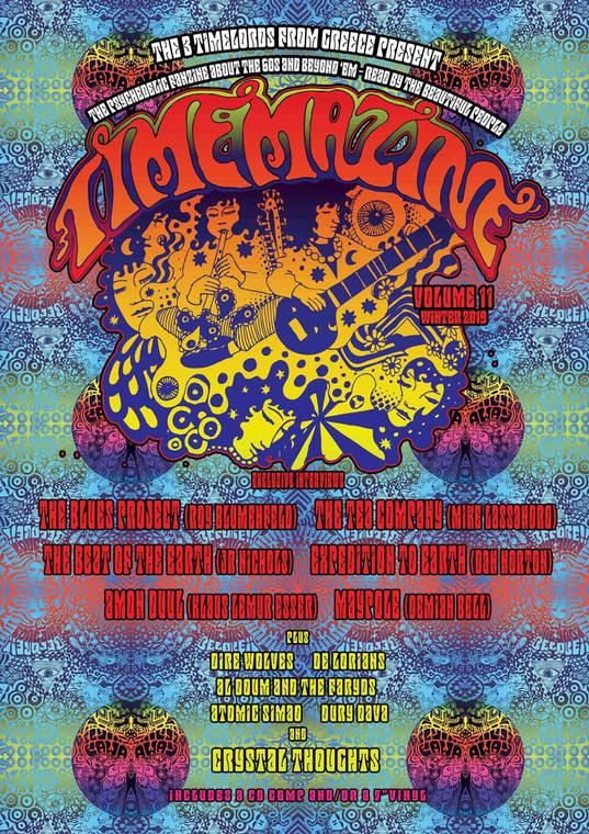 "TIMEMAZINE   -#11 PLUS  CD  and 7"" (Greek psych zine) BOOKS & MAGS"