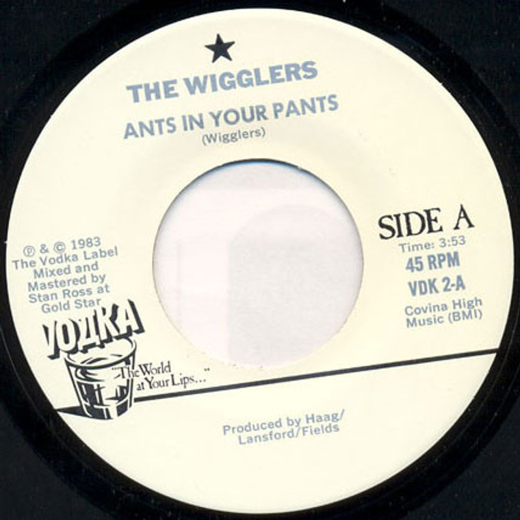 WIGGLERS   -Ants In Your Pants (1983 POSHBOY related release) -  45 RPM