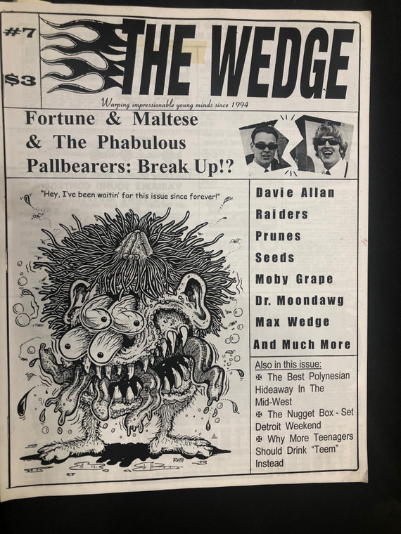 THE WEDGE #7   -Fortune and Maltese, Raider, Prunes, Seeds  -BOOKS & MAGS