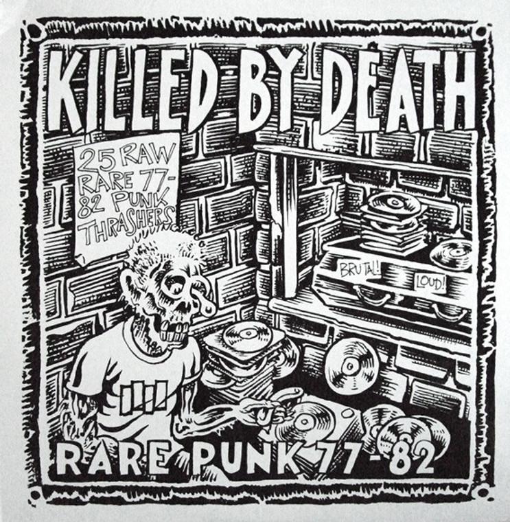 KILLED BY DEATH Vol 1  -Raw Rare Punk Rock 77-82-  COMP CD