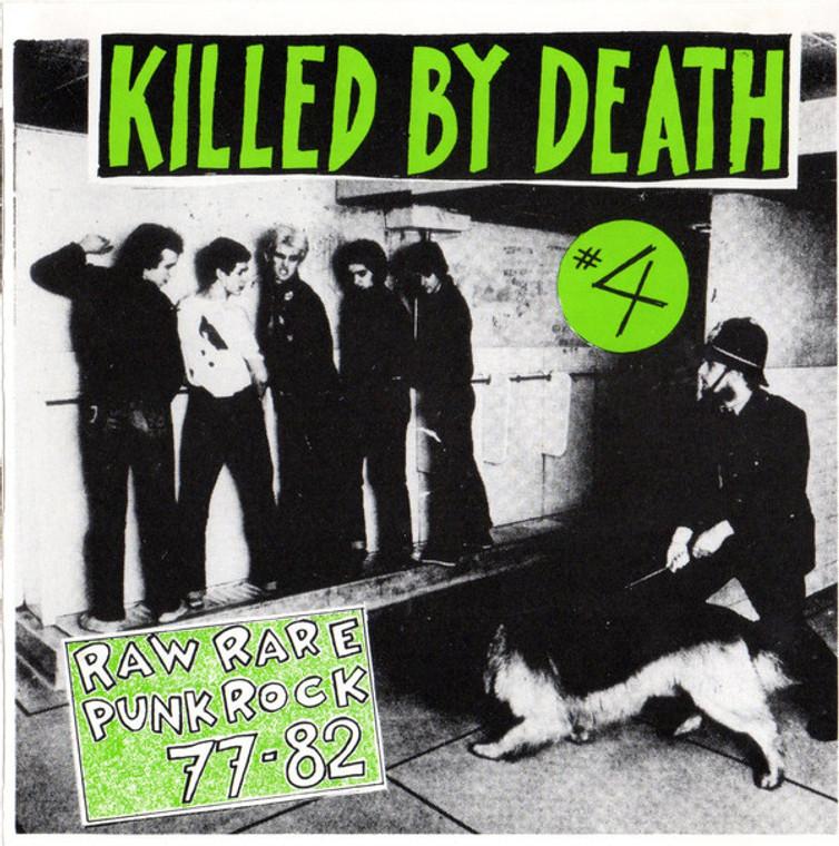 KILLED BY DEATH Vol 4  -Raw Rare Punk Rock 77-82-  COMP CD