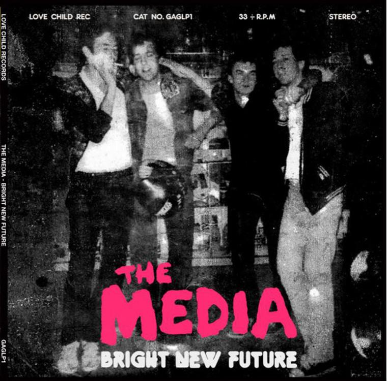 MEDIA  - BRIGHT NEW FUTURE (1978 UK punk style)YELLOW  SALE! LP