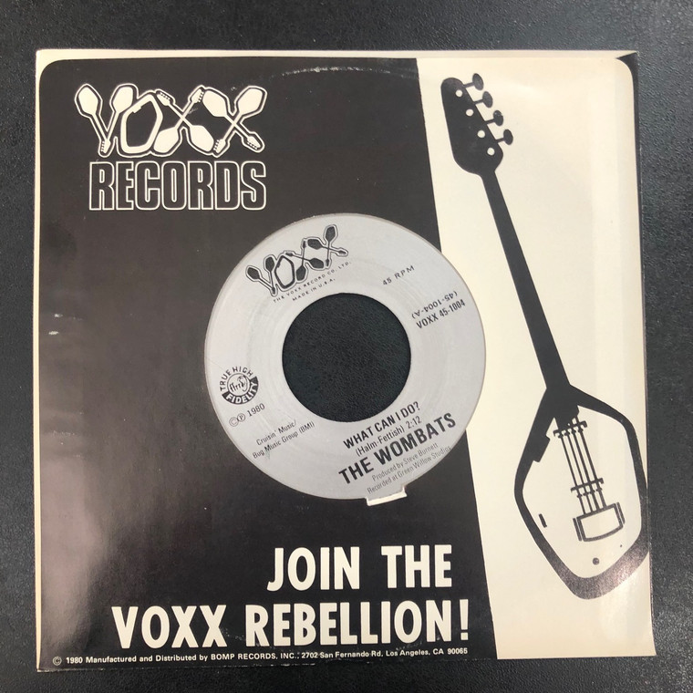 WOMBATS   - What Can I Do ( In Voxx sleeve ) 1980 garage -  45 RPM