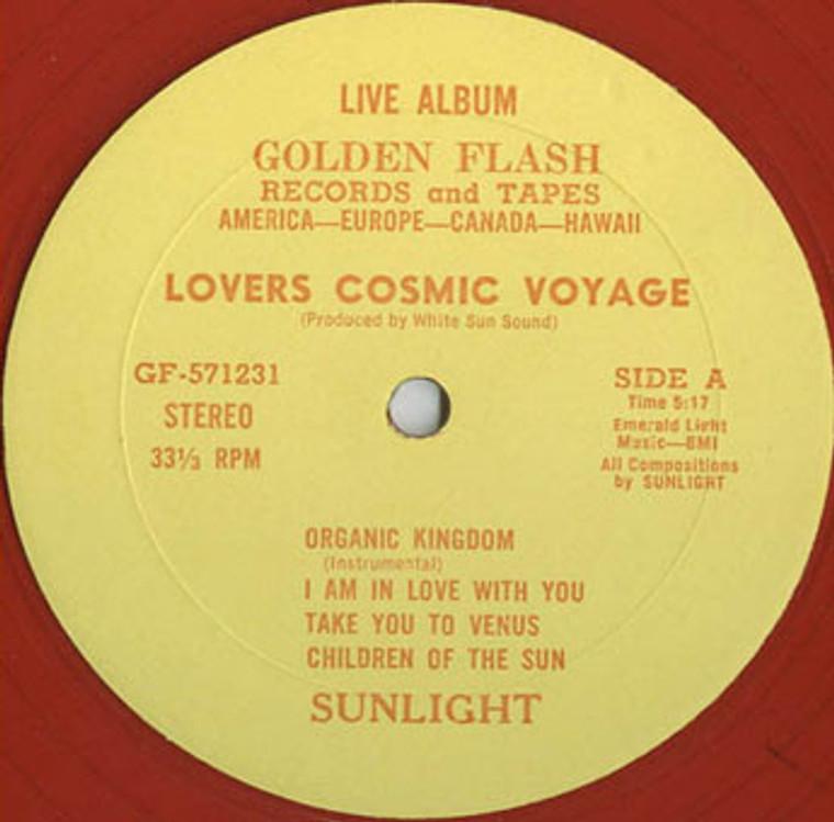 SUNLIGHT (Sky Saxon) Lovers Cosmic Voyage  - transparent red vinyl 1976 - LP
