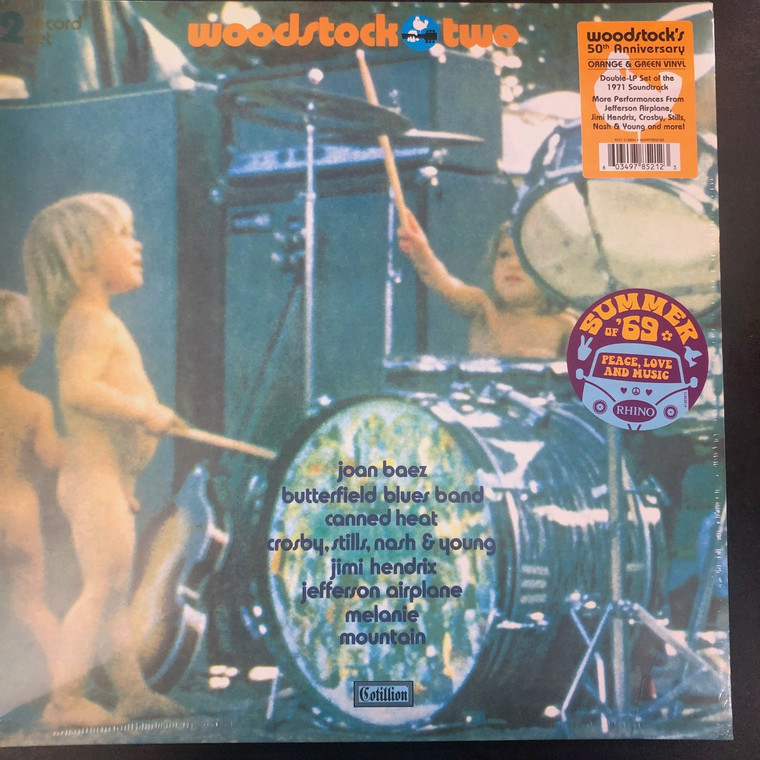 WOODSTOCK TWO  - 50th Anniversary -Orange & Green  DOUBLE LP set of  1971 Soundtrtack