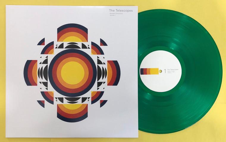 TELESCOPES - Between Dimensions Vol 1- LTD ED of 500 -CLEAR GREEN VINYL LP