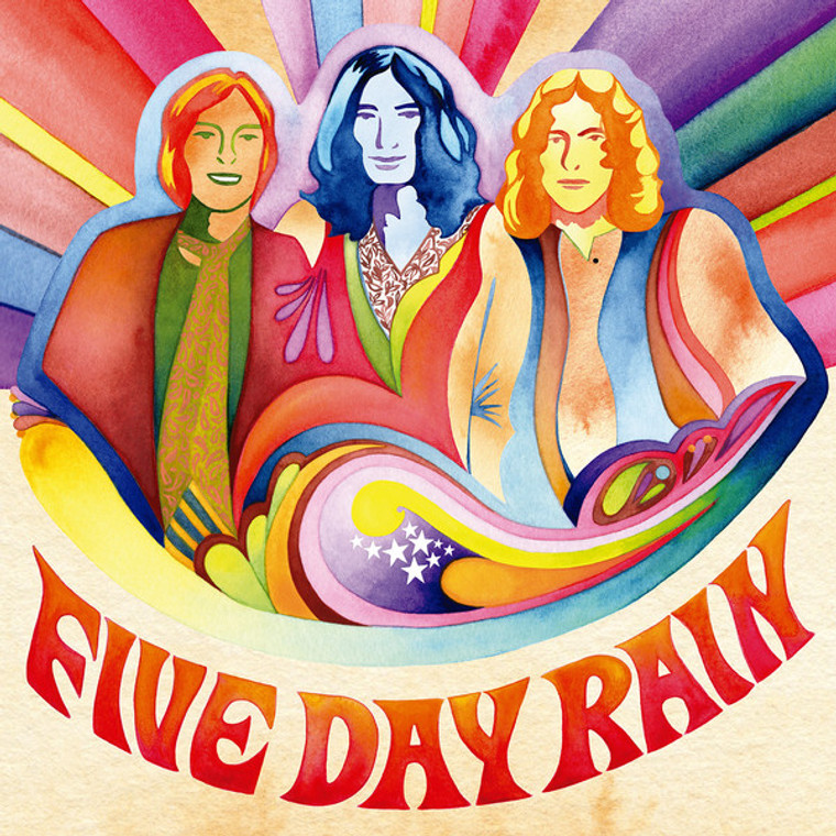 FIVE DAY RAIN   - ST (Rare 1970 UK psych with insert and liners)  LP