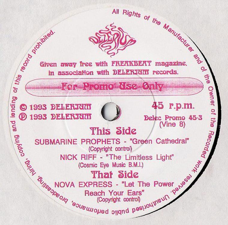 "SUBMARINE PROPHETS/Nick Riff/Nova Express   - 1993 promo 7"" for Freakbeat magazine - 45 RPM"