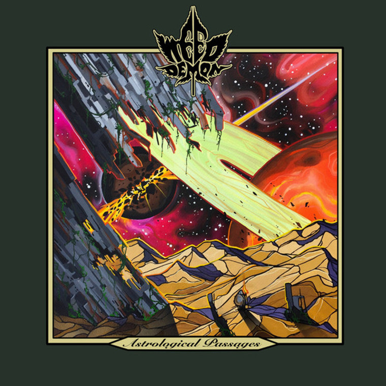 WEED DEMON   - ASTROLOGICAL PASSAGES (stoner rock) RED MARBLE   LP