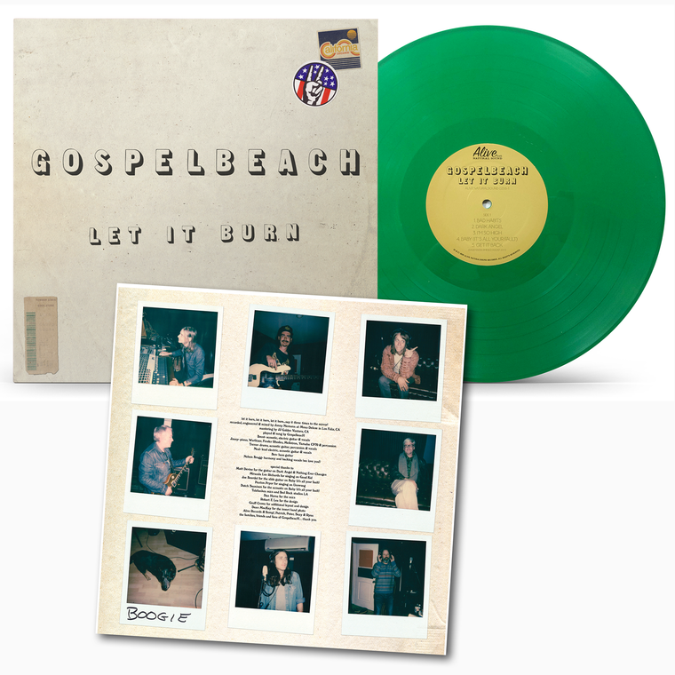 GOSPELBEACH  - Let It Burn with NEAL CASAL-NOW  with insert! CLEAR  GREEN  LP