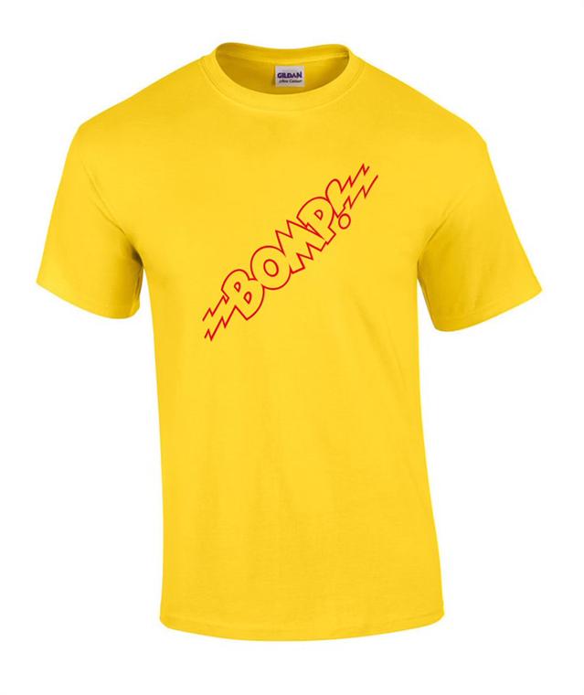 BOMP VINTAGE YELLOW SHIRT WITH RED LOGO  -  Repro of  original 70s shirt - APPAREL