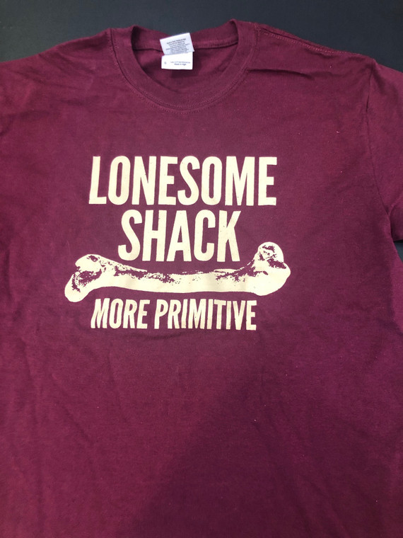 LONESOME SHACK   VINTAGE T -MAROON-SMALL   APPAREL