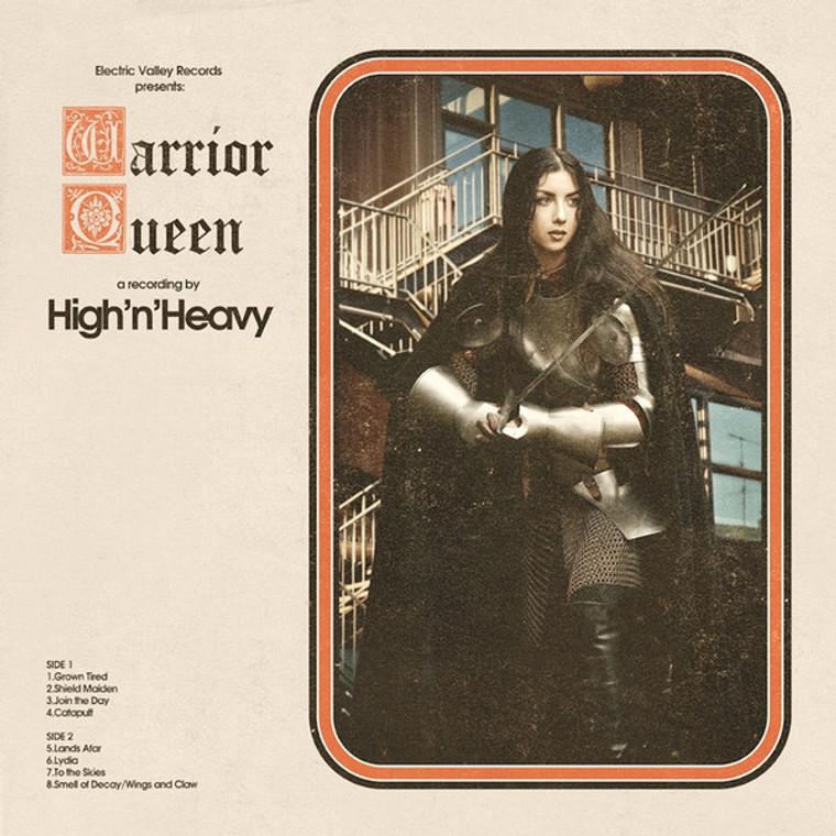 HIGH N'HEAVY  -WARRIOR QUEEN(70s style rock,doom blues-RED VINYL LP