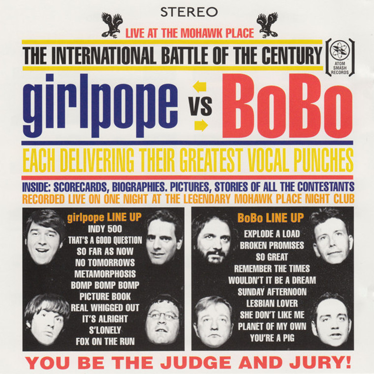 GIRLPOPE VS BOBO   (Dead Boys-meets-The Kinks blasts)  CD