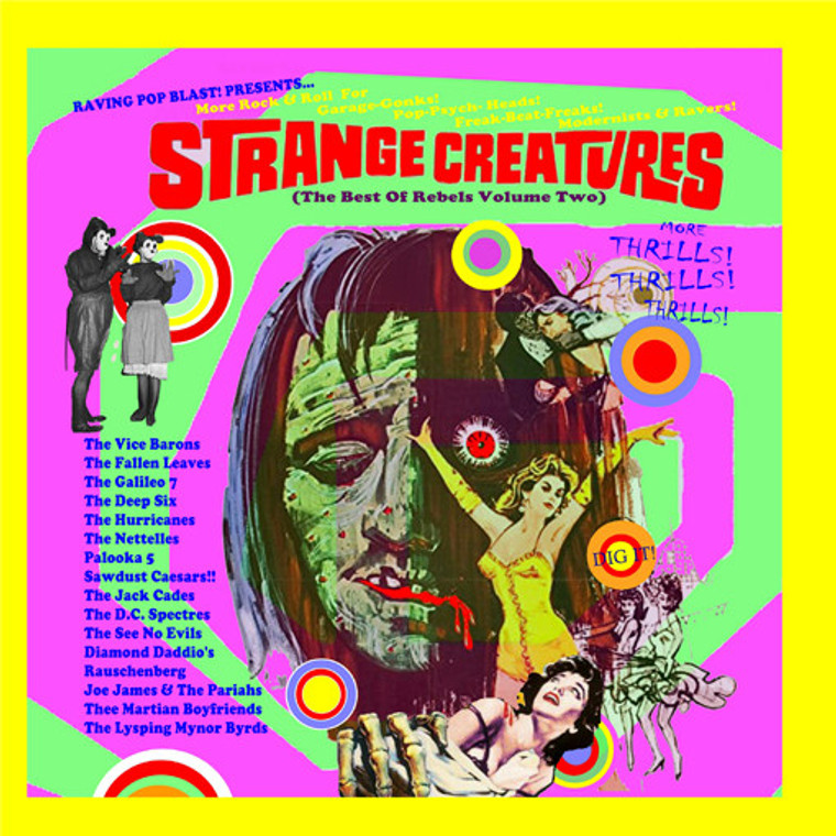 STRANGE CREATURES   -The Best of REbels Vol TWO- 15 ear Bashing Greats (PEBBLES/ NUGGETS STYLE)  PURPLE - COMP LP