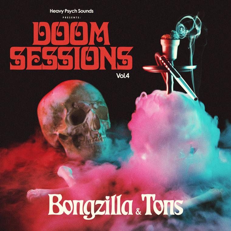 BONGZILLA/ TONS -  DOOM SESSIONS  VOL. 4 ( WHITE/BLUE/RED)   LP