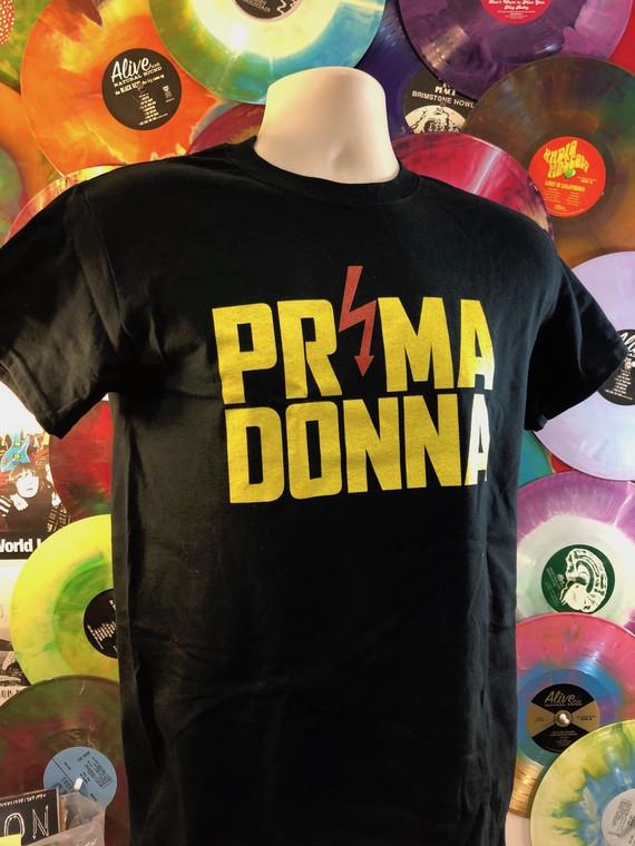 PRIMA DONNA  - BLACK shirt with yellow logo-  Tshirts