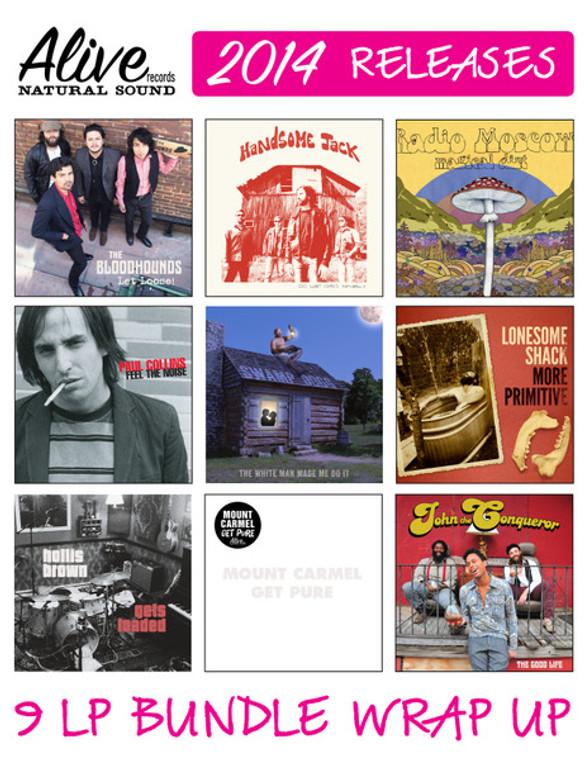 ALIVE 2014 WRAP UP -9 LP BUNDLE - Get em all for a bargain price!
