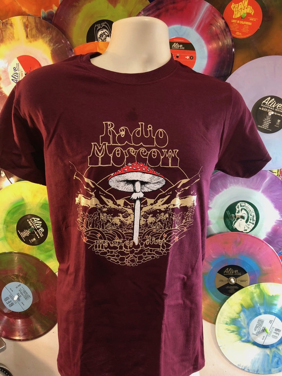 RADIO MOSCOW  - Magical Dirt - MAROON  T SHIRT  LAST ONES!  -