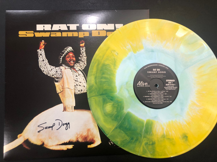 SWAMP DOGG - AUTOGRAPHED  STARBURST VINYL! Rat On! LTD ED LP