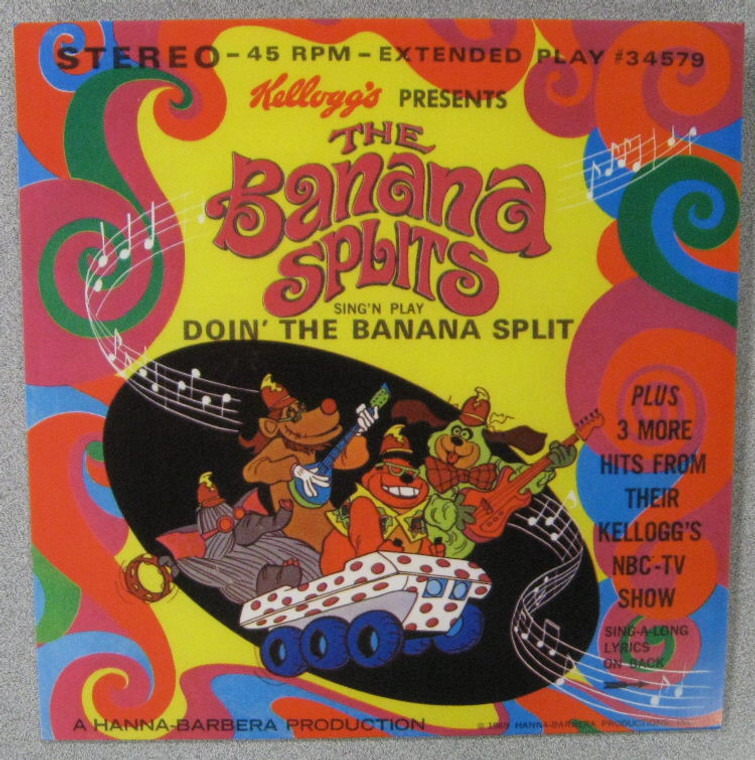 BANANA SPLITS- Sing N Play-Doin the Banana Splits- EP 45 RPM