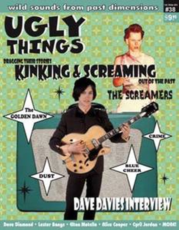 UGLY THINGS  - #38   DAVE DAVIES -   Books/Mags