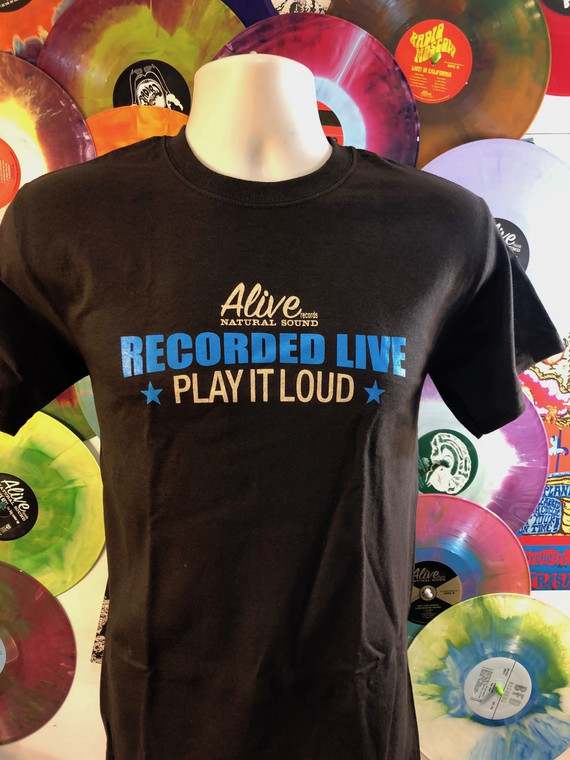 """ALIVE """"PLAY IT LOUD """"   LAST ONES!  SMALL ONLY- SHORT SLEEVED SHIRT"""