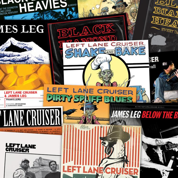 LEFT LANE CRUISER - 16 LP SUPERBUNDLE! with KING MUD, BLACK DIAMOND HEAVIES, JAMES LEG, PAINKILLERS
