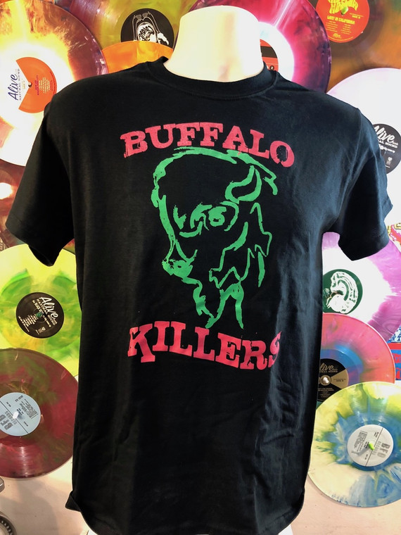 BUFFALO KILLERS -   Green and red logo T Shirts