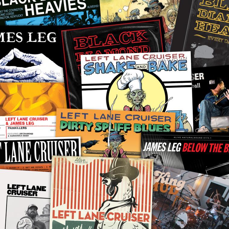 LEFT LANE CRUISER - 16  CD SUPERBUNDLE - WITH KING MUD / BLACK DIAMOND HEAVIES / JAMES LEG / PAINKILLERS