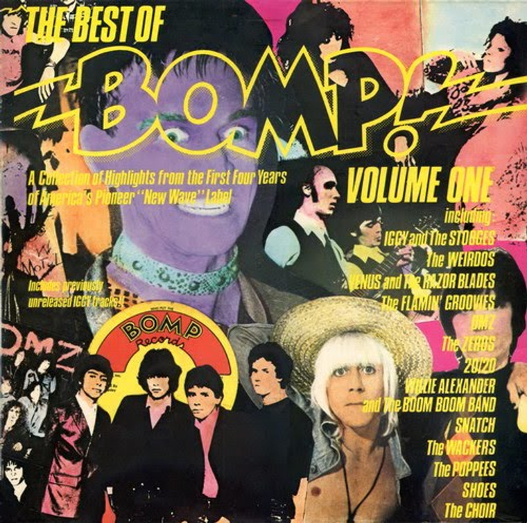 BEST OF BOMP 1978- POWER POP, PUNK AND GARAGE (Poppees, Shoes, Zeros and more )  PINK VINYL COMPLP
