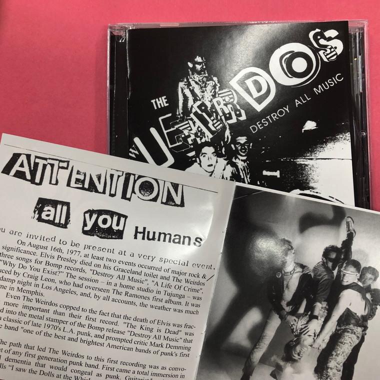 WEIRDOS -Destroy All Music (1977 Los Angeles punk legends) w booklet CD