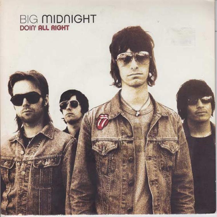 BIG MIDNIGHT - Doin All Right  (Former RICHMOND SLUTS ) pc slv Fantastic power pop/garage- 45 RPM