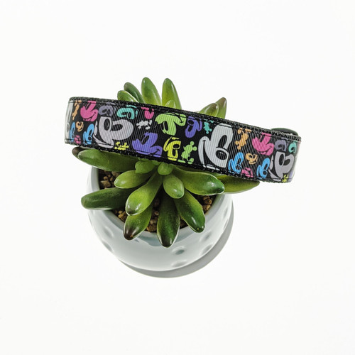 Colorful Mouse Inspired Dog collar (Large)