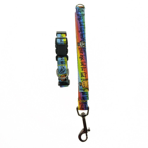 So cute and so crazy Dog Collar & Leash Set (Small)