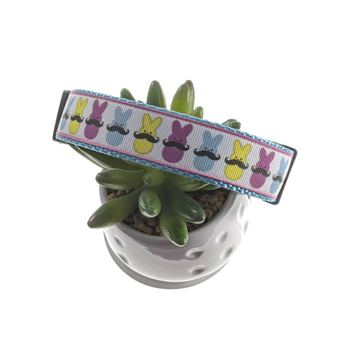 Peeps w/ Mustaches Dog Collar (Large)